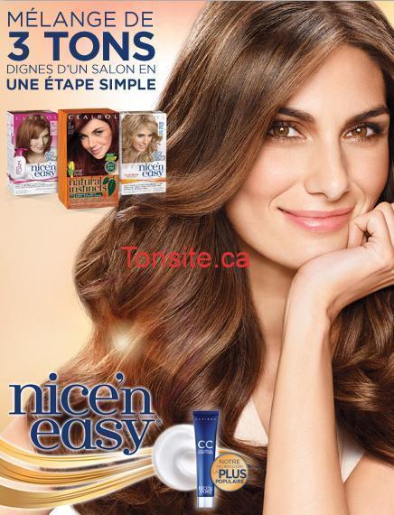 NICEN EASY - Colorants capillaires Nice'n Easy de Clairol à 5.99$ après coupon!