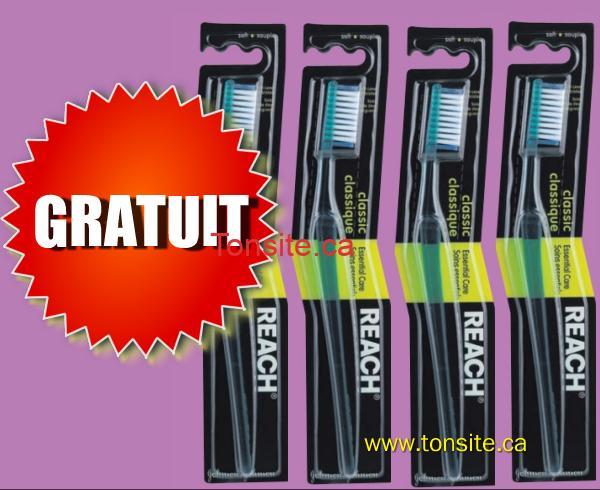 REACH GRATUIT1 - Brosse à dents Reach gratuite après coupon!