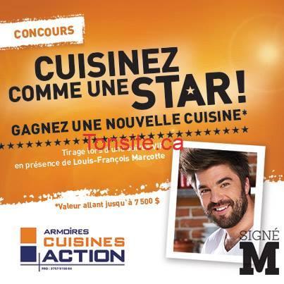 Concours armoires cuisine action gagnez une cuisine for Armoires de cuisine action
