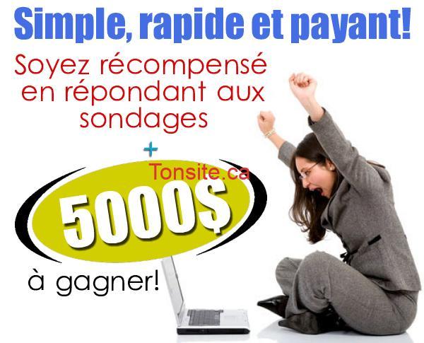 cafedopinion - Café d'opinion: Gagnez 5000$ et Soyez récompensé en répondant aux sondages!