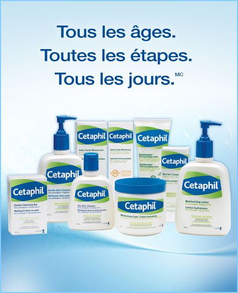 cetaphil - Coupon rabais de 5$ sur n'importe quel nettoyant ou hydratant Cetaphil!