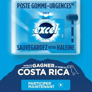 excel concours 350x350 - Concours Excel: Gagnez 1 des 3 voyages pour 2 personnes à Costo Rica! (Valeur de 11355$ / ch)