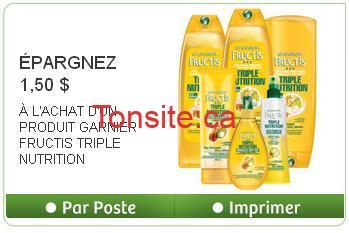 ggggg - Nouveau coupon rabais de 1,50$ sur un produit GARNIER FRUCTIS TRIPLE NUTRITION!