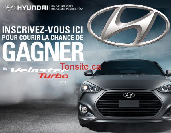 hyndai 2014 - Concours Hyundai 2014: Gagner un Veloster Turbo DCT 2014 (valeur de 30714$)!