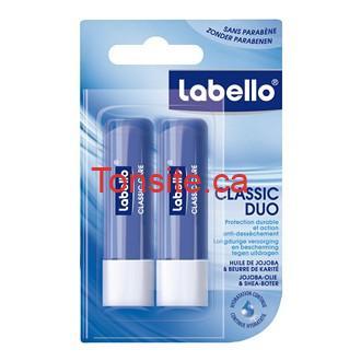 labello classic duo baume a levres nivea x 2 - Baume pour les lèvres Nivea à 1$ après coupon!