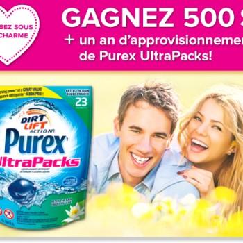 purex concours 350x350 - Concours Purex: Gagnez 500$ + un an d'approvisionnement de Purex UltraPacks!