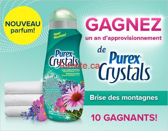 purex crystals - Concours Purex: Gagnez 1 des 10 approvisionnements d'un an de Purex Crystals!