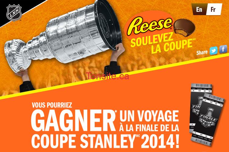 rees - Concours Reese: Gagnez un voyage à la finale de la coupe Stanley 2014 (Valeur de 5000$) ou 1 des 36 cartes-cadeaux de 250$!