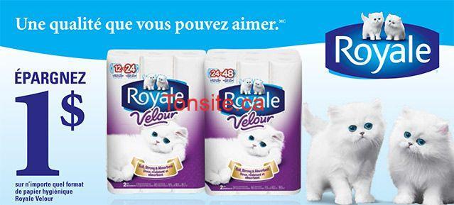 royal velour - Un paquet de 8 rouleaux doubles du papier hygiénique Royale à 2,99$!