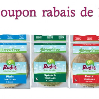 rudis free gluten1 350x350 - Coupon rabais de 1$ sur le pain Rudis sans gluten!