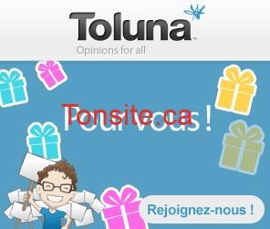 toluna - Inscrivez vous et gagnez 2500$ et de 1$ à 5$ à chaque sondage!