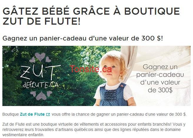 zf - Zut de Flute: Gagnez un panier-cadeau d'une valeur de 300$!