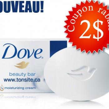DOVE 2 350x350 - Coupon rabais de 2$ sur le pain de beauté Dove (emballages de 4, 8 et 14)