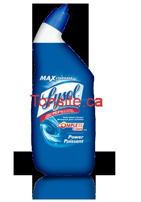 coupon rabais de 1 sur les produits pour la salle de bain lysol