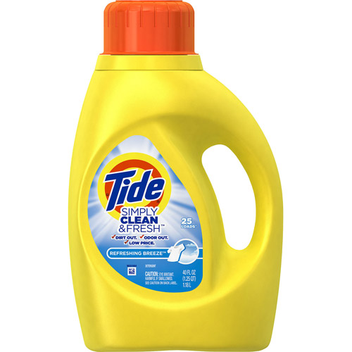 Tide Simply Clean and Fresh 25 loads1 - Détergent à lessives Tide Simply Clean & Fresh(38 brassées) à 3,49$ après coupon!
