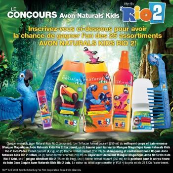 avon concours 350x350 - Concours Avon: Gagnez un des 25 assortiments Avon Naturals Kids Rio 2!