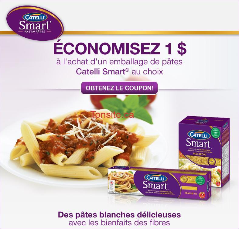 catelli smart - Coupon rabais de 1$ sur les pâtes Catelli Smart au choix!