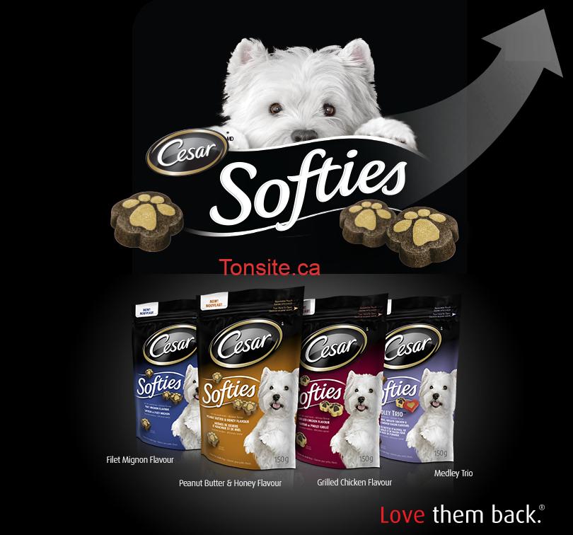 cesar sof - Gratuit: Envoyer une photo ou une video de votre chien et obtenez un sac gratuit de gâteries César Softies!
