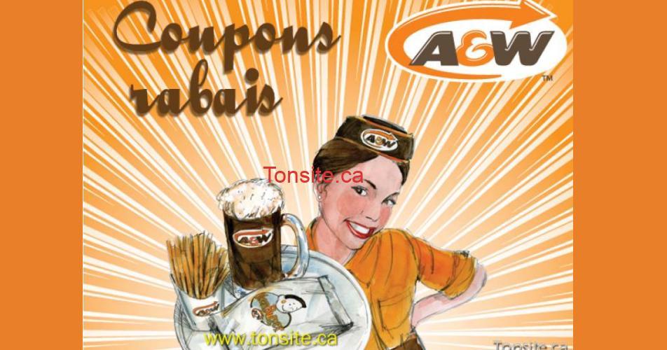 coupons aw - Coupons rabais A&W - NOUVEAU -