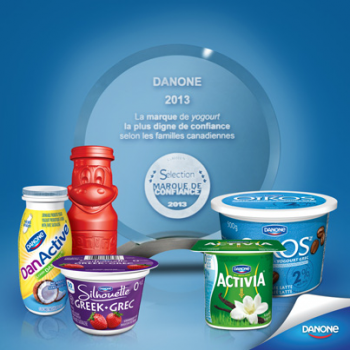 danone concours 350x350 - Concours Danone: Gagnez 1 des 10 coupons Danone!