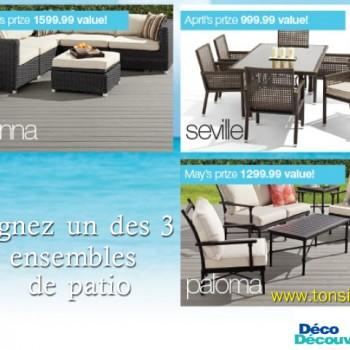 deco decouverte patio 350x350 - Concours Déco Découverte: Gagnez 1 des 3 enssemble de patio!