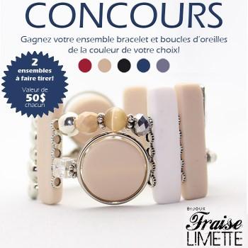 f da 350x350 - Concours G. D'Aoust & Cie: Gagnez 1 des 2 ensembles (BRACELET et boucles d'oreilles) de la collection Fraise Limette!