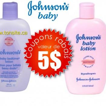 johnsons baby 5 350x350 - 5$ en coupons rabais sur les produits Johnson's pour bébé!