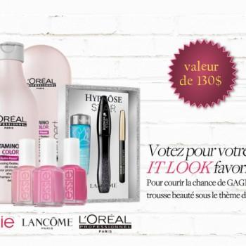loreal 130 350x350 - Concours L'Oréal: Votez pour votre look préféré et gagner 1 des 6 trousses de beauté (valeur 130$)!