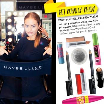 maybelline contest 350x350 - Concours Fashion Magazine et Maybelline: Gagnez 1 des 3 packs de produits de beauté Maybelline New York (valeur de 250$/ch)!