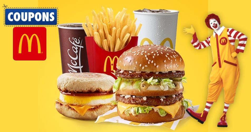 mcdonalds repas - Coupons mcdo - Coupons rabais du restaurant McDonald's