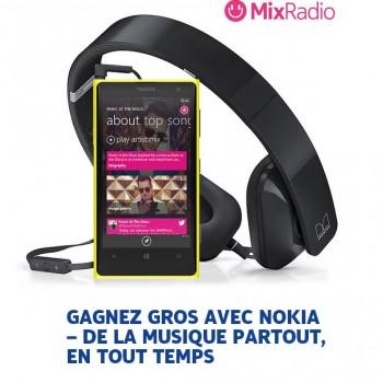 nokia11 350x350 - Concours Nokia: Gagnez un un Lumia 1020 de Nokia, des écouteurs stéréo HD Purity WH-930 et un abonnement d'un (1) mois à MixRadio