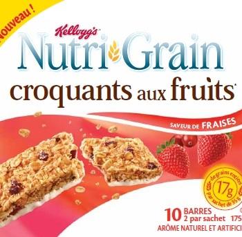 nutri grain 350x343 - Barres croquants aux fruits ou tendres fournées Nutri-grain à 1$ au lieu de 2.98$
