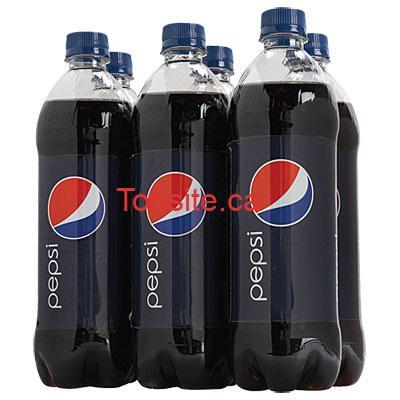 pepsi 6 - 6 bouteilles de Pepsi ou Coca Cola (710 ml) à 2.49$ seulement!