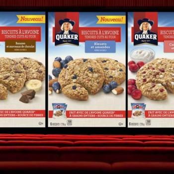 quaker 350x350 - Coupon rabais de 1.50$ sur une boîte de biscuits à l'avoine tendre cuits au four de Quaker (210g / saveur au choix)!
