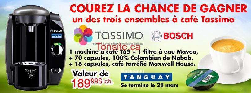 tanguay tassimo - Concours Tanguay: Gagnez un des trois ensemble à café Tassimo de Bosh!
