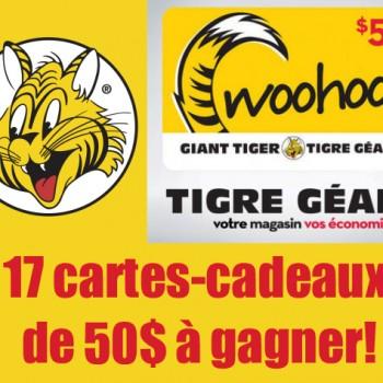 tigre geant1 350x350 - Concours Tigre Géant: Gagnez 1 des 17 cartes-cadeaux de 50$ Tigre Géant!
