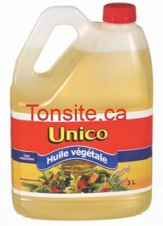 unico - Huile végétale Unico 2L à 2,98$ (sans coupon)!