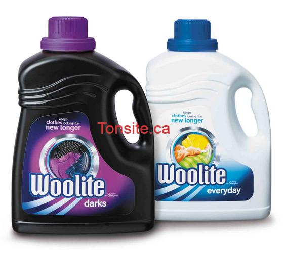 woolite - Coupon rabais de 1,50$ sur une bouteille de détergent à lessive Woolite (bouteille de 1,8 L au choix)!