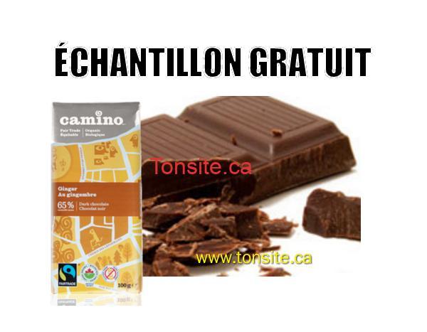CAMINO - GRATUIT: Demandez un échantillon gratuit de chocolat Camino!