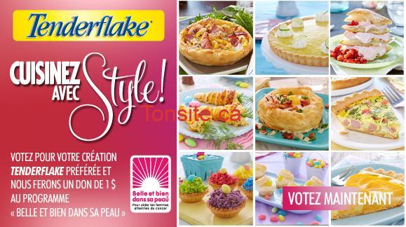 Home page main rotator LGFB Tenderflake fr - Coupon rabais de 1,50$ sur les produits Tenderflake!