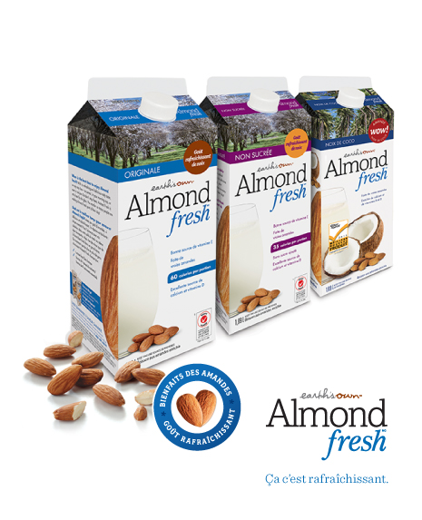 almond fresh 1 - Coupon rabais de 75¢ sur n'importe quelle Earth's Own Almond Fresh 1.89 L