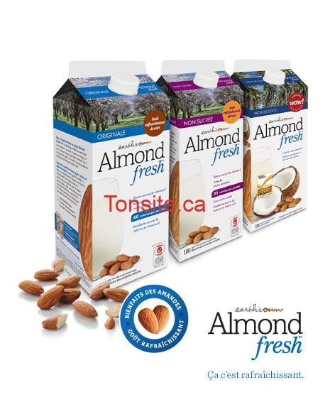 almond fresh 1 - Coupon rabais de 75¢ sur n'importe quelle Earth's Own Almond Fresh 1.89 L