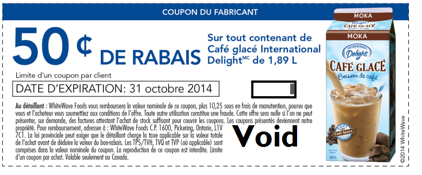 cafe glace i d - Coupon rabais de 50¢ sur tout contenant de Café glacé international Delight de 1,89L!