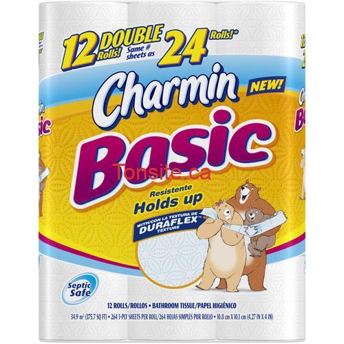 charmin basic - Papier Hygiénique Charmin Basic à 2,99$ après coupon!
