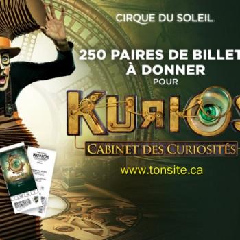 cirque soleil 350x350 - Cirque du soleil: 250 paires de billets à donner pour <Kurios - Cabinet des curiosités>!