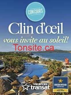 clindoeil concours - Concours Clin d'œil: Gagnez Un voyage tout inclus de 7 nuits pour 2 personnes à l'hôtel Iberostar Playa Mita à Riviera Nayarit au Mexique!