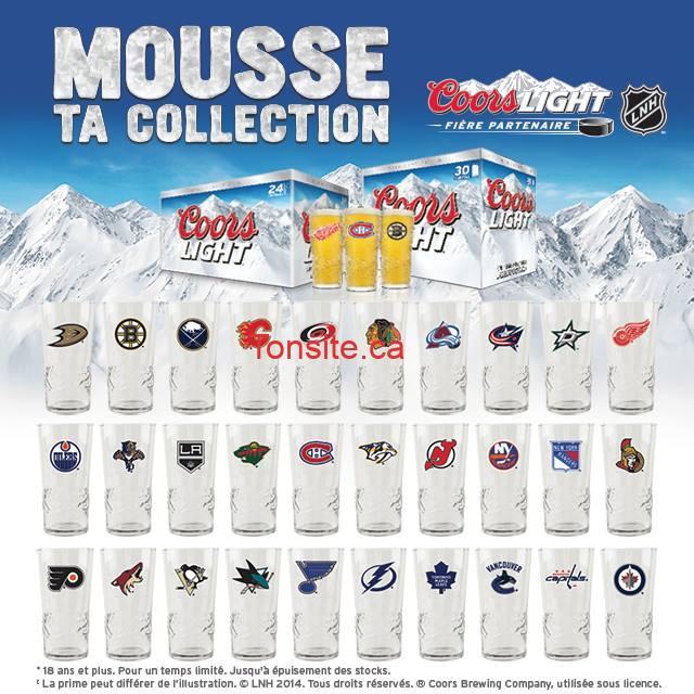 couche tard verres - Concours Couche-Tard: Gagnez une collection de 30 verres de la LNH !