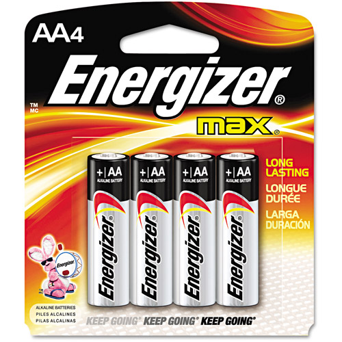 energizer - Paquet de 4 piles Energizer Max à 1$ après coupon!
