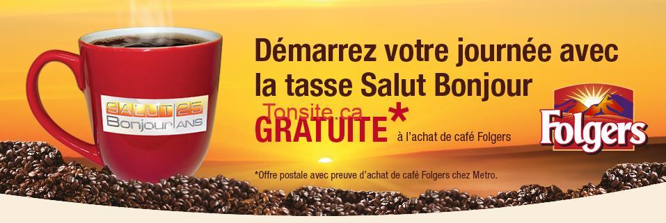 Metro Une Tasse Salut Bonjour Gratuite à L Achat De Café