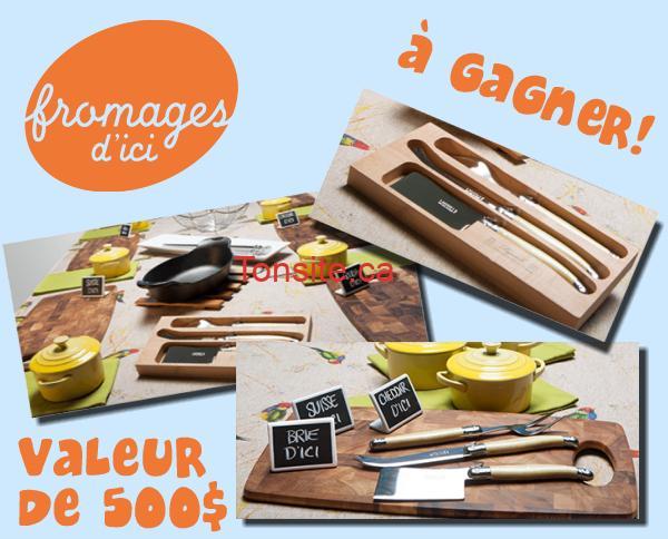 fromages dici concours - Concours Fromages d'ici: Gagnez un ensemble Brunch fromager (valeur de 500$)!